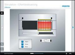Tec2Screen® simulation (20/20): Furnace door control system