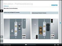Tec2Screen® simulation: Car park control system