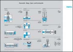 Set of posters on pneumatics