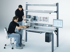 Laboratory furniture for electrical engineering: Swing, Basic and cabinet systems