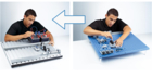 Convert now from blue to silver. You can now have the slotted assembly board with unbeatable advantages on your tried-and-tested laboratory furniture too.