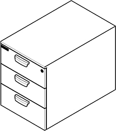 Fixed drawer unit for installation in mobile workstations