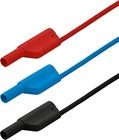 4 mm Safety laboratory cables, 106 pieces, red, blue, and black