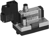 3/2-way solenoid valve with LED,normally closed 167073