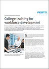College training for workforce development (Article)