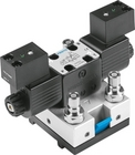 4/2-way double solenoid valve, detenting