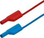 4 mm Safety laboratory cables, 98 pieces, red and blue