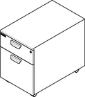 Wheeled drawer unit for stationary workstations