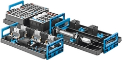 Supplementary equipment set to upgrade from Pneumatics, Basic level TP 101 to Electropneumatics, Basic level TP 201