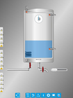Tec2Screen® simulation (20/20): warm water tank (analog)
