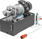 Hydraulic power pack with LS variable and constant displacement pump combination