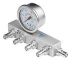 4-way distributor with pressure gauge