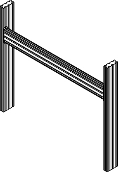 Mounting frame/mounting set for inclined mounting of the profile plate