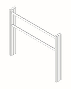 Mounting frame for A4 mounting