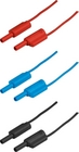 2 mm Safety laboratory cables, 60 pieces, red, blue and black