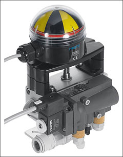 2-way ball valve for EduKit PA with quarter-turn actuator DAPS, double-acting