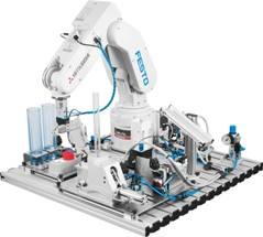 Robot station with MPS® modules 8039313