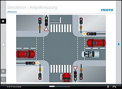Tec2Screen® simulation: Traffic light-controlled junction