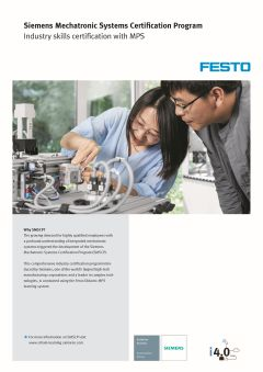 Siemens Mechatronic Systems Certification Program: Industry skills certification with MPS